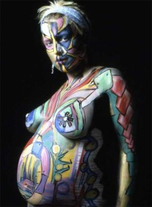 body paint = fun AND pregnant bodies = glorious